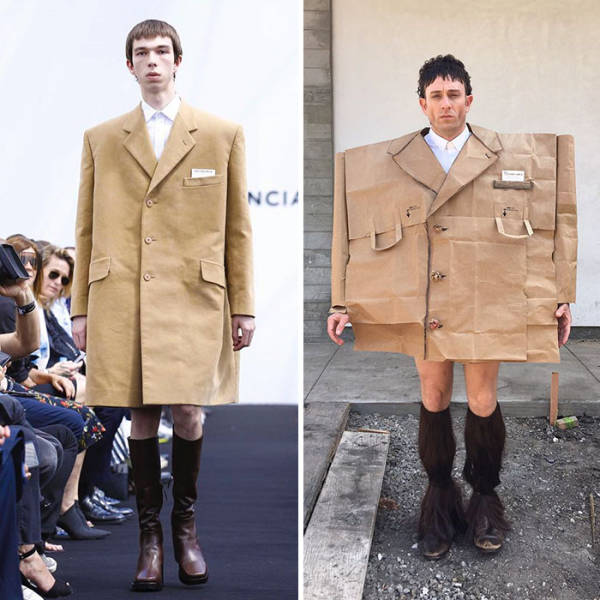 This Guy Nails Celebrity Outfits With The Stuff He Has At Home