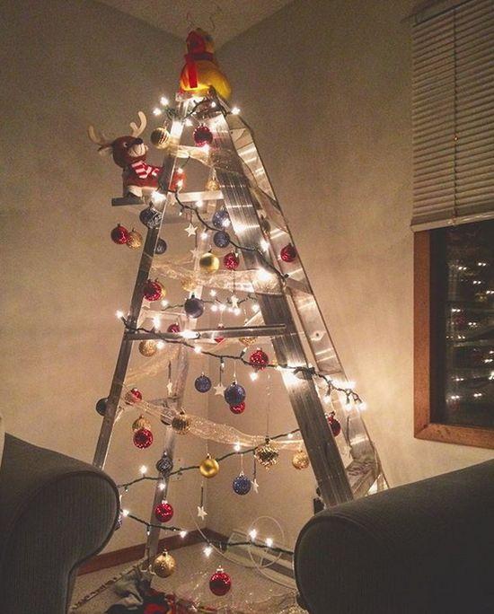 Ladder Christmas Trees