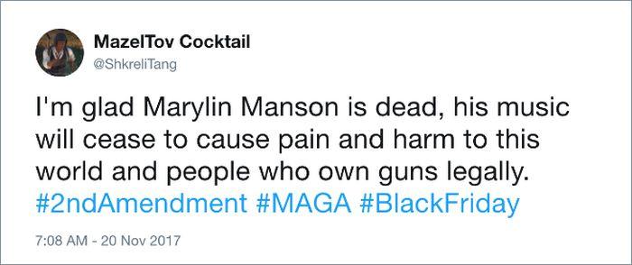 Twitter Users Mourn Marilyn Manson