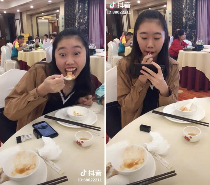 """Women In China Are Sharing This """"Hack"""" For How To Eat With Lipstick On"""