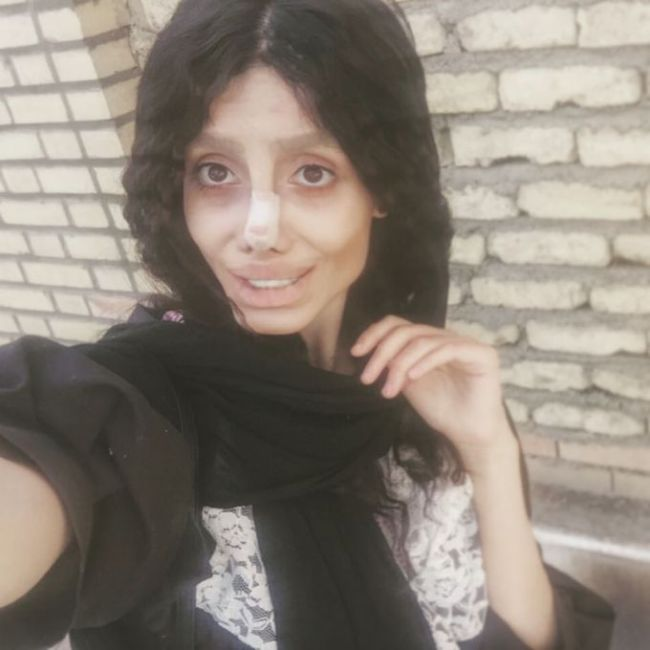 Creepy... When You Are Trying To Look Like Angelina Jolie
