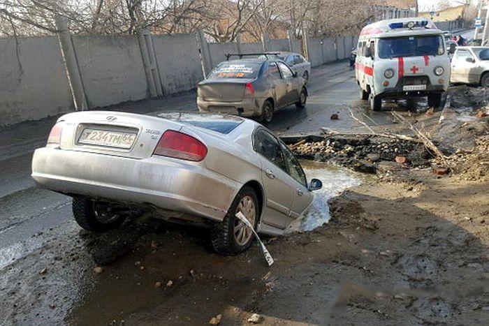 Roads In The City Of Saratov, Russia