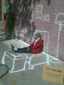 Homeless People Have Sense Of Humor