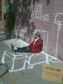 Homeless People Have Sense Of Humor