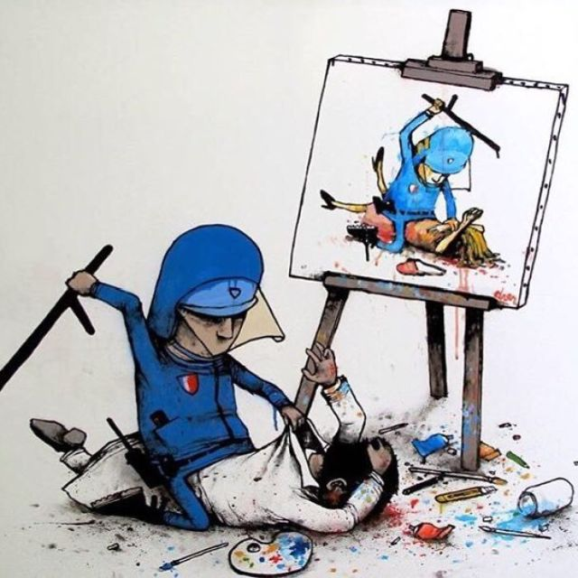 Controversial Illustrations By The French Banksy