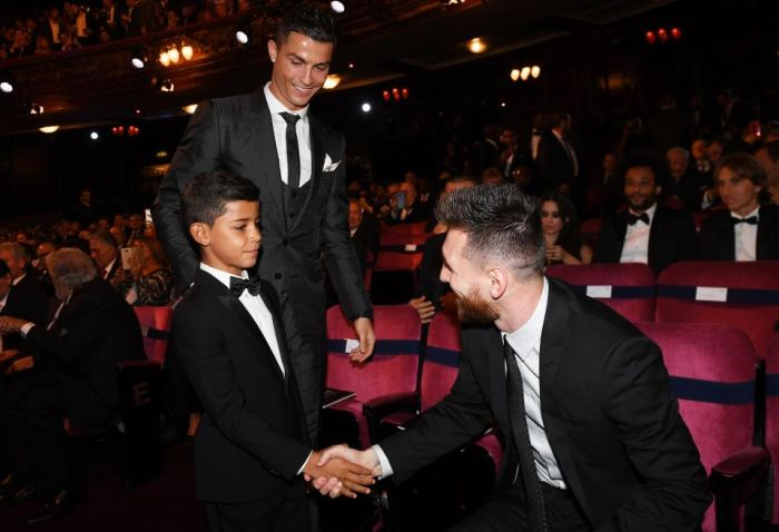 Ronaldo's Son Meets His Idol, Messi