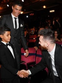 Ronaldo's Son Meets His Idol, Messi