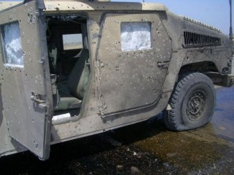 Armored Humvee Saved Soldiers After A Bomb Explosion