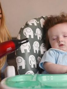5-month-old Kid Has Awesome Hair