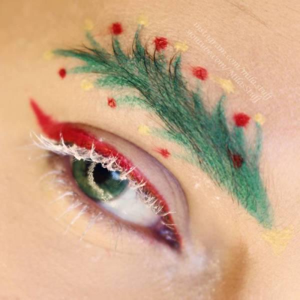 Christmas Eyebrows
