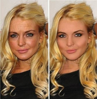 Unretouched And Retouched Celebrity Photos