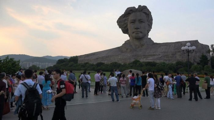 In China, Mao's Huge Head Was Built For The 116th Birthday Of The Leader