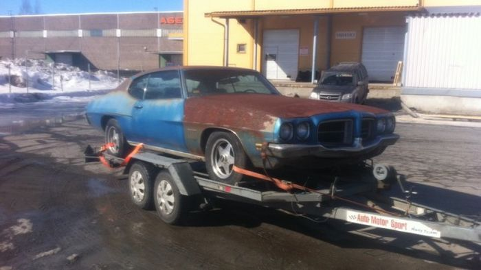 Recovery of the Pontiac GTO 1970 The Judge