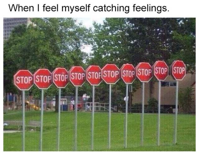 Nobody's Going To Catch Feelings Around Here