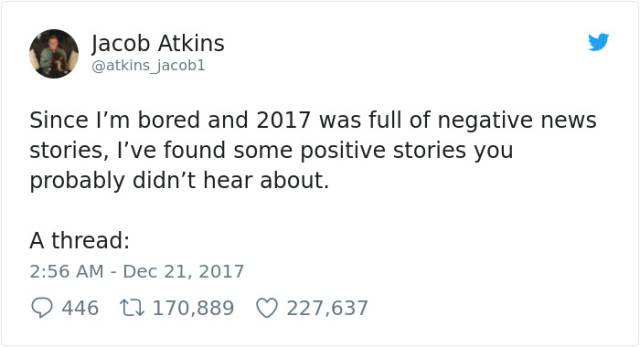 Positive News Of 2017, part 2017