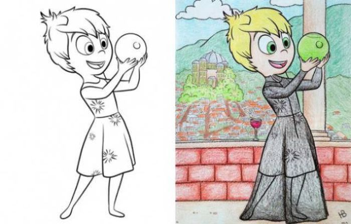 Coloring Books For Kids Colored By Adults