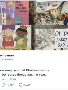 How To Use Old Holiday Cards