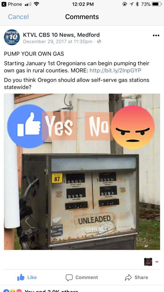 New Oregon Gas Pumping Law