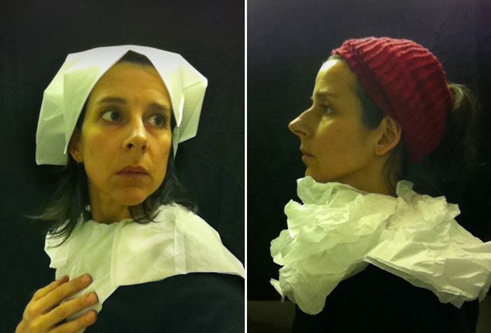 Artist Recreates 15th Century Paintings In Airplane Toilets
