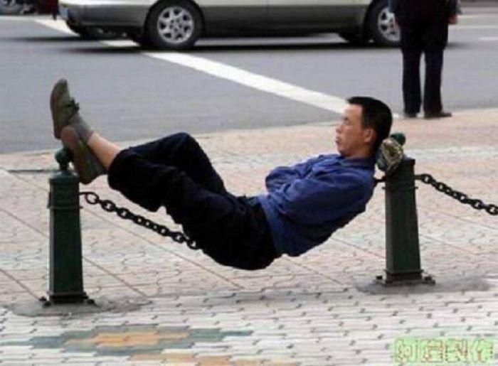 People Can Sleep Anywhere