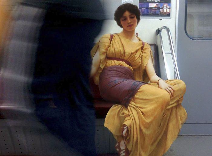 Artist Inserts People From Classical Paintings Into Today's World