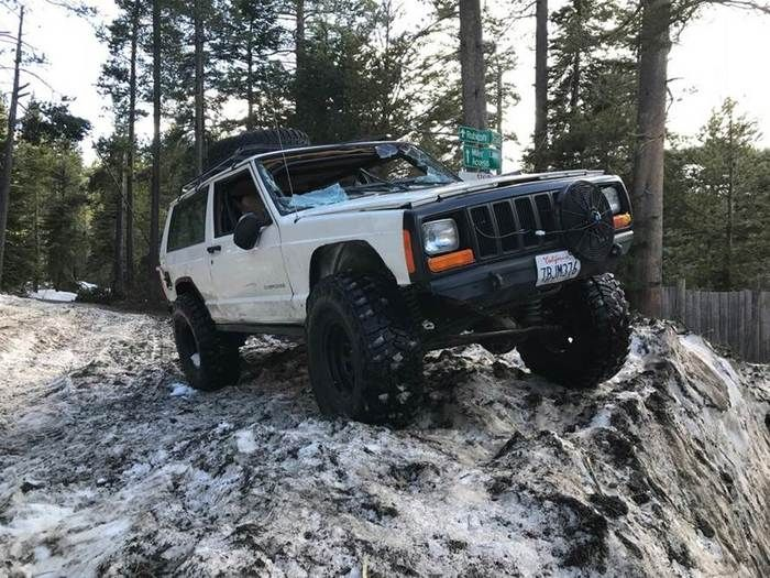 Jeep Under Snow
