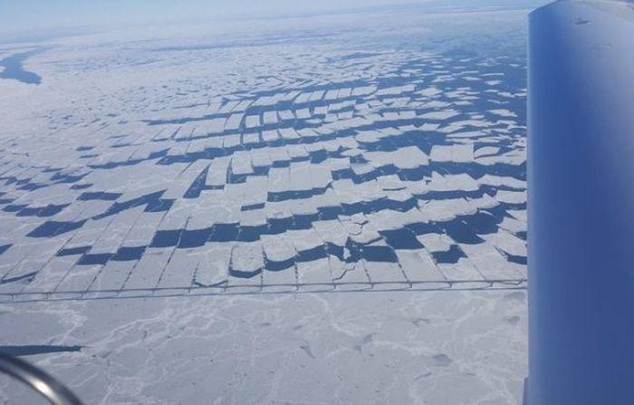 The Confederation Bridge in Canada Cuts Ice
