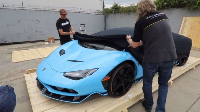Unpacking A New Lamborghini