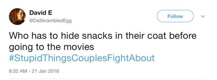 Stupid Things Couples Fight About