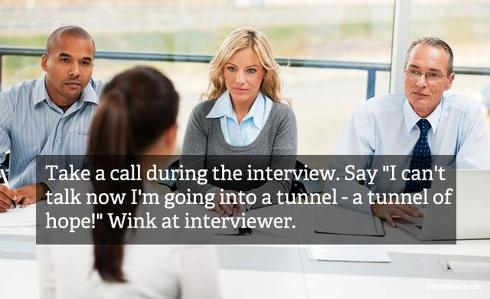 Really Bad Interview Advices