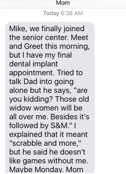 Texts From Mike Rowe's Mom