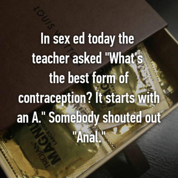 Sex Ed Classes Are Always Awkward