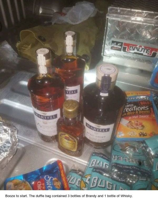 Escaped Inmate Arrested Running Back To Prison With Booze Food