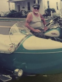 Man And His Motorcycle Together Until The End