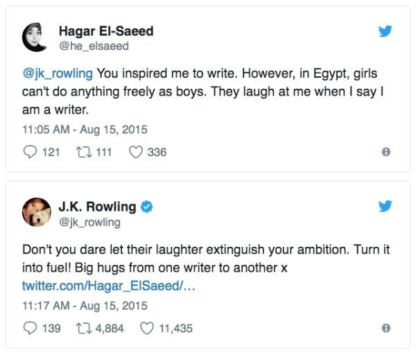 Advice From J.K. Rowling