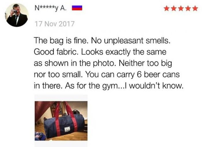 Funny Customer Reviews