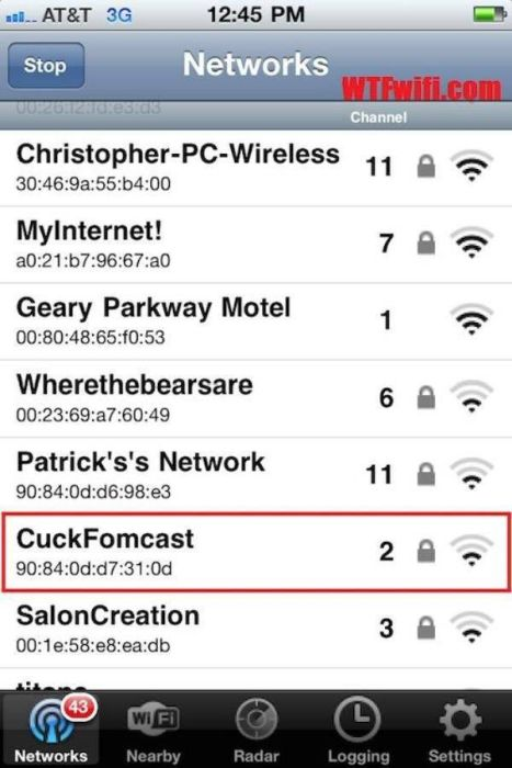 Creative Wi-Fi Names