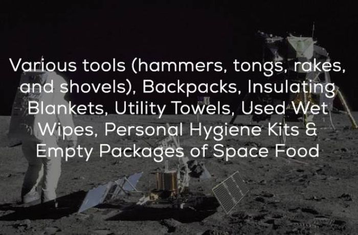 Things Left On The Moon By Humans