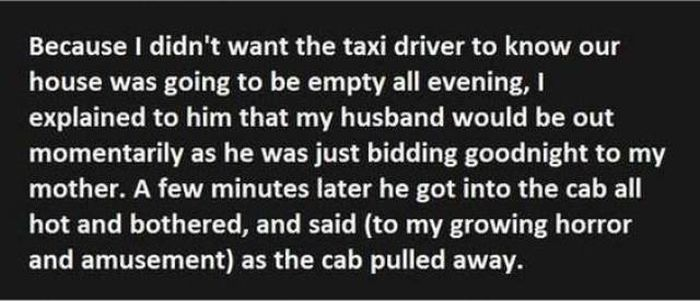 How A Couple Terrified A Cab Driver