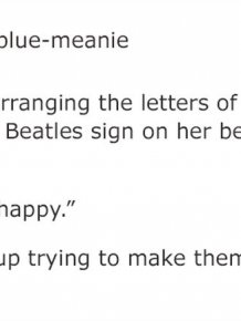 Girl Keeps Rearranging 'The Beatles' Letters On Her Sister's Door