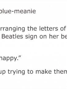 Girl Keeps Rearranging 'The Beatles' Letters On Her Sister's Door