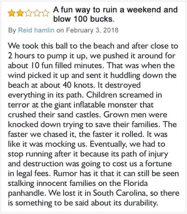 Funny Beach Ball Amazon Review