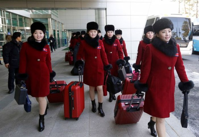 Fans From North Korea Came To The Olympics In South Korea
