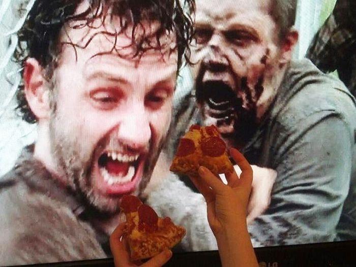 People Feeding Their Screens