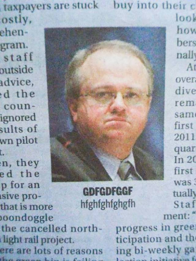 Awkward Newspaper Edits