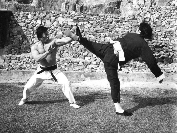 Two Legends. Bruce Lee And Bolo Yeung