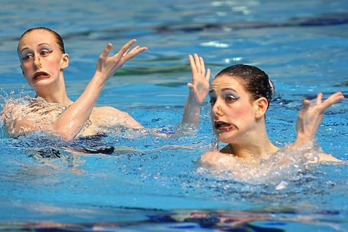The Faces of Olympic Synchronised Swimming