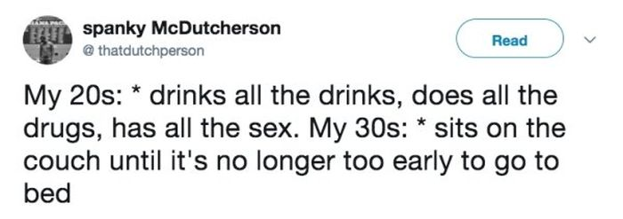 Tweets About Being In Your 30s