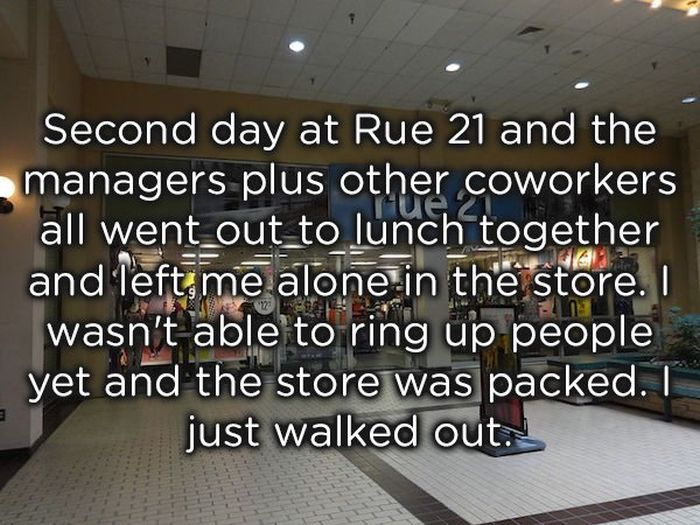 Jobs People Quit After One Day