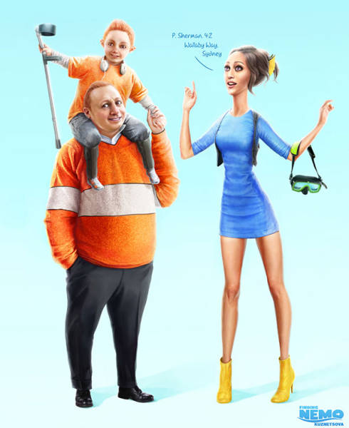 If Cartoon Characters Were Humans